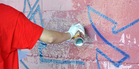 graffiti, sprayer, illegal