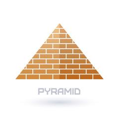 Pyramid icon. Flat style.