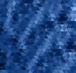 abstract dark blue bacground from triangles