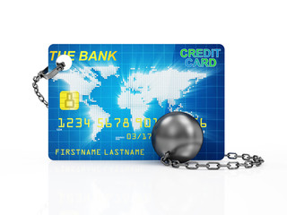 Heavy Ball and Chain with Credit Card