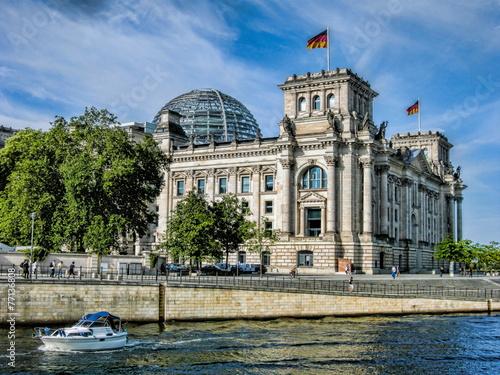 Aluminium Berlijn Deutscher Reichstag