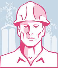 Construction Engineer Worker Hardhat