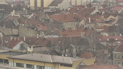 Vilnius. Panoramic View of the Old Town