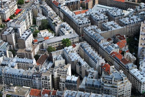 Papiers peints Vue aerienne Paris Immobilier
