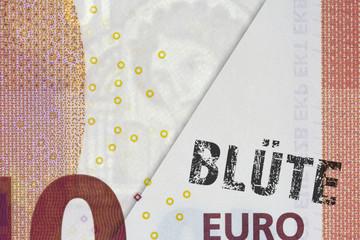 Echter Euroschein & gefälschter Euroschein