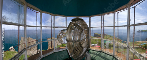 Fotobehang Vuurtoren / Mill Panorama Gamow lighthouse.