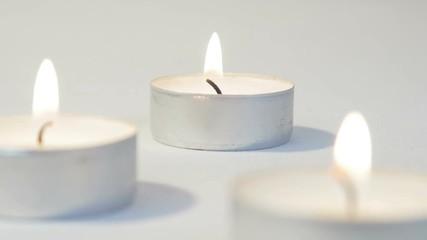 Group of tea light candles