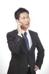 通話/男性ビジネスマン
