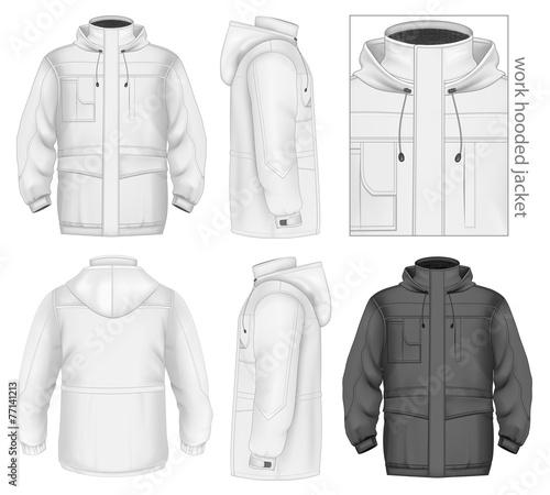 Men work hooded jacket - 77141213