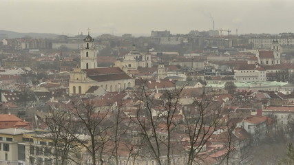 Vilnius. View from Mount of Three Crosses. Timelpse.mov