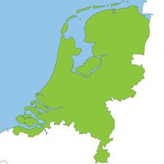 Niederlande in grün und weiß