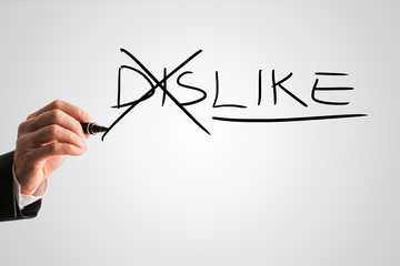 Concept of opposites for Dislike - Like