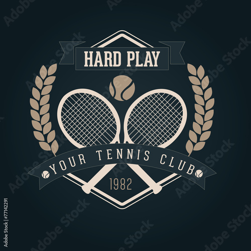 Hand crafted tennis lettering for label and packaging - 77142291