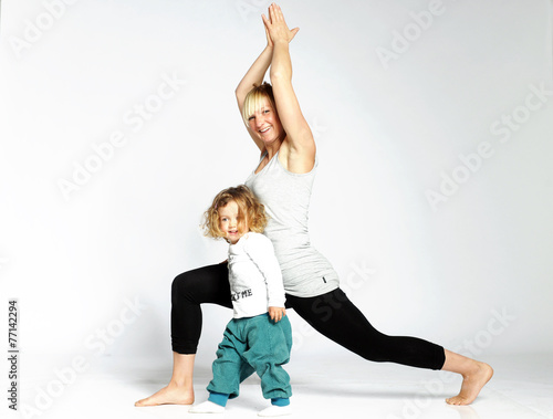 Poster Mutter und Kind Turnen