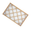 New furnace filter on white background. - 77142415