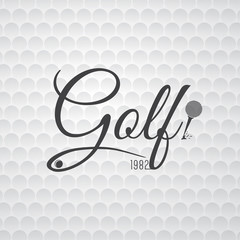 White Golf Background with Dynamic Golf Typography