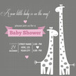 Baby girl invitation for baby shower - 77143237