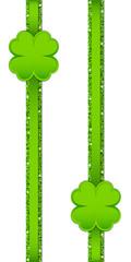 2 Clover Double Glitter Ribbon Vertical Light Green