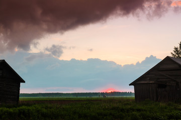 Summer Sunset In The Fields 2