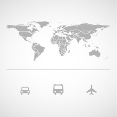 Map and transportation icon great for any use. Vector EPS10.