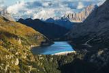 Lago Fedaia as seen from Viel dal Pan trail, Dolomites, Trentino