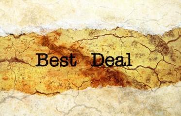 Best deal grunge concept