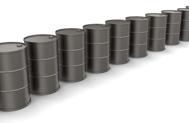 Oil drums (clipping path included)