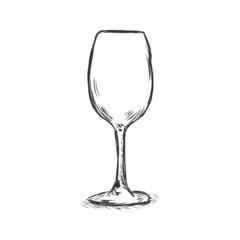 Vector Single Sketch  Wine Goblet