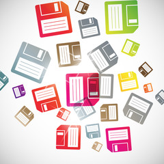 abstract background: floppy