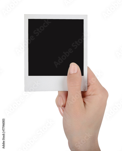 canvas print picture Instant photo in hand