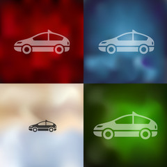 car icon on blurred background
