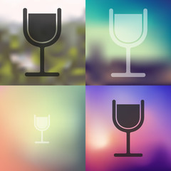 cocktail icon on blurred background