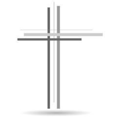 Vector illustration of a cross.