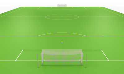 Soccer field with gates