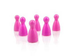 Pink pawns