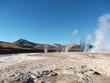 geyser Chile bolivia mountain hot spring water panorama
