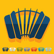 Flat design: accordion