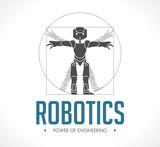 Logo - robotics - The Vitruvian Man - Da Vinci
