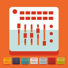 Flat design: mixer controller