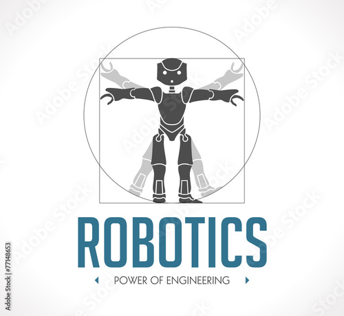Logo - robotics - The Vitruvian Man - Da Vinci - 77148653