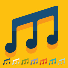 Flat design: musical note