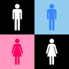 Toilet icons set great for any use. Vector EPS10.