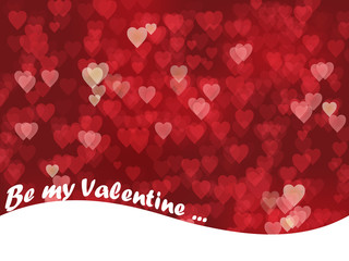 BE MY VALENTINE with hearts background (texture valentine's day)