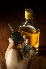 Drunk driver,social problem concept.