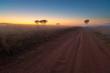 Sunrise road at Ezemvelo