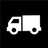 Pictograph of truck sign vector poster