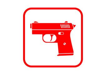 Gun icon on white background