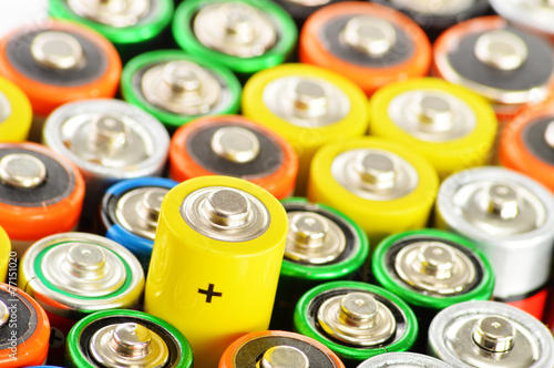 Composition with alkaline batteries. Chemical waste - 77151020