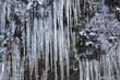 Eiszapfen am Berg