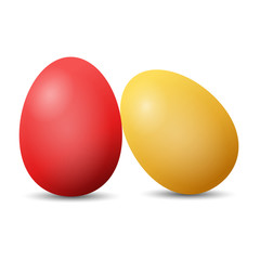 red and yellow easter eggs